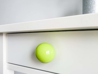 "Ceramics handles - Round 3,5 cm / 1,58"" - colour lime green glossy glaze Viola Ceramics Studio ArtworkOther artistic objects Ceramic Green"
