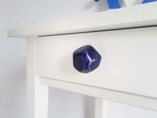 Ceramics handles – Polyhedron - colour cobalt glossy glaze Viola Ceramics Studio ArtworkOther artistic objects Ceramic Blue