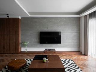 邑田空間設計 Living room Concrete