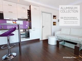 Effebiquattro S.p.A. Puertas interiores Aluminio/Cinc Blanco