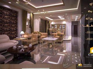كاسل للإستشارات الهندسية وأعمال الديكور والتشطيبات العامة Corridor, hallway & stairsDrawers & shelves Bricks Amber/Gold