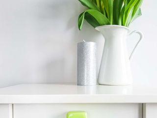 Ceramics handles - Cube - colour lime green glossy glaze Viola Ceramics Studio HouseholdAccessories & decoration Ceramic Green