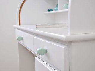 Ceramics handles - Diamond - colour pastel mint glossy glaze Viola Ceramics Studio HouseholdAccessories & decoration Ceramic Blue