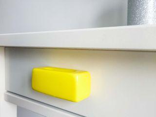 Ceramics handles – Rectangle – colour yellow glossy glaze Viola Ceramics Studio HouseholdAccessories & decoration Ceramic Yellow