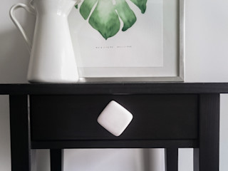 Ceramics handles - Cube - colour white matt glaze Viola Ceramics Studio HouseholdAccessories & decoration Ceramic White