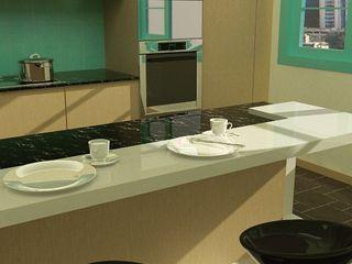 kitchenette Arq Darwin Machiste Muebles de cocinas Madera Marrón