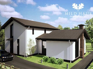 Mild Haus Casas de estilo escandinavo Hormigón Blanco
