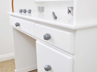 Ceramics handles – Polyhedron - colour dark grey glossy glaze Viola Ceramics Studio HouseholdAccessories & decoration Ceramic Grey