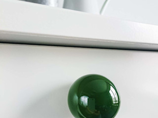 "Ceramics handles - Round 3,5 cm / 1,58"" - colour emerald green glossy glaze Viola Ceramics Studio HouseholdAccessories & decoration Ceramic Green"