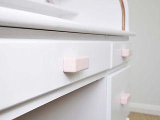 Ceramics handles – Rectangle – colour pastel pink glossy glaze Viola Ceramics Studio HouseholdAccessories & decoration Ceramic Pink