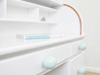 Ceramics handles – Round 6 cm - colour pastel mint glossy glaze Viola Ceramics Studio HouseholdAccessories & decoration Ceramic Blue