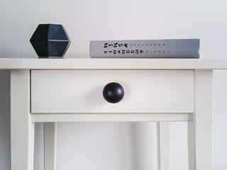 """Ceramics handles - round 3,5 cm / 1,58"""" - colour black matt Viola Ceramics Studio HouseholdAccessories & decoration Ceramic Black"""