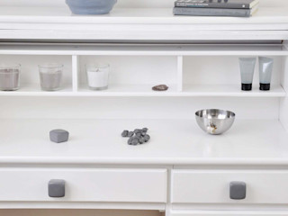 Ceramics handles - Cube - colour dark grey glossy glaze Viola Ceramics Studio HouseholdAccessories & decoration Ceramic Grey