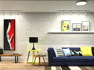 LVM Arquitetura Eclectic style living room