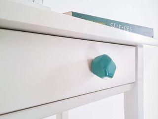 Ceramics handles – Polyhedron - colour marine glossy glaze Viola Ceramics Studio HouseholdAccessories & decoration Ceramic Blue