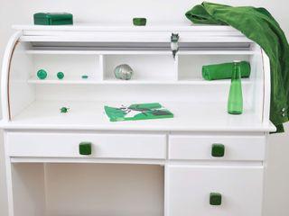Ceramics handles - Cube - colour emerald green glossy glaze Viola Ceramics Studio 家居用品配件與裝飾品 陶器 Green