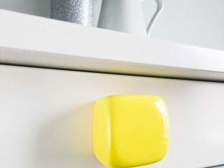 Ceramics handles - Cube - colour yellow glossy glaze Viola Ceramics Studio 家居用品配件與裝飾品 陶器 Yellow