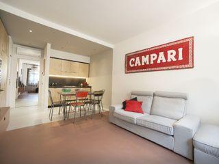 PADIGLIONE B Living room Concrete Beige