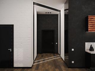 Студия интерьерного дизайна happy.design Minimalist corridor, hallway & stairs