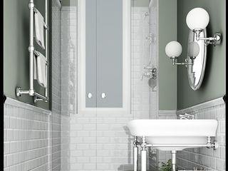 Apartment Renovation Haussmannian Style architetto stefano ghiretti Baños clásicos Gris