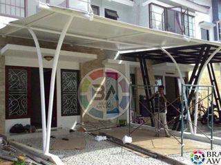 Braja Awning & Canopy 陽台、門廊與露臺 配件與裝飾品 合成纖維 White