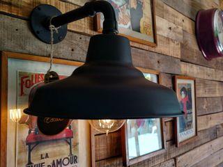 Lamparas Galponeras Vintage Industriales variedad de colores Vieja Eddie Lamparas Vintage Vieja Eddie EstudioIluminación Hierro/Acero Negro