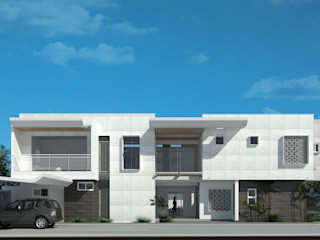 Vivienda VN Guataparo EISEN Arquitectura + Construccion Casas unifamiliares Concreto Blanco