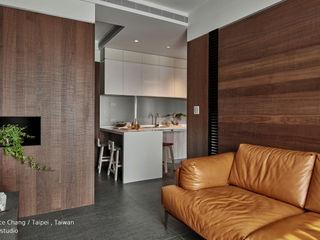 客廳 / Living room SECONDstudio 现代客厅設計點子、靈感 & 圖片 實木 Wood effect