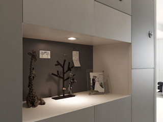 禾光室內裝修設計 ─ Her Guang Design Minimalist corridor, hallway & stairs