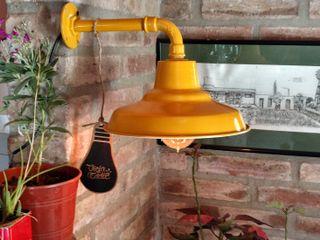 Lampara Galponera Vintage Oro Retro Lamparas Vintage Vieja Eddie Paisajismo de interiores Hierro/Acero Ámbar/Dorado
