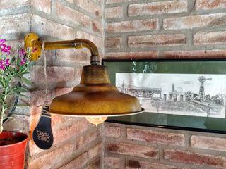 Aplique Lámpara Galponera Oro Envejecido Vintage Lamparas Vintage Vieja Eddie Paredes y pisosDecoración de paredes Hierro/Acero Amarillo