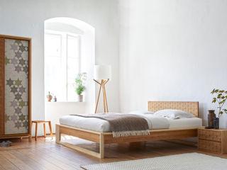 destilat Design Studio GmbH BedroomBeds & headboards Wood Brown
