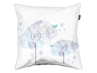 Pillow cover Circle trees winter ilsephilips WoonkamerAccessoires & decoratie