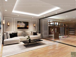 ICON INTERIOR Salas multimedia de estilo moderno