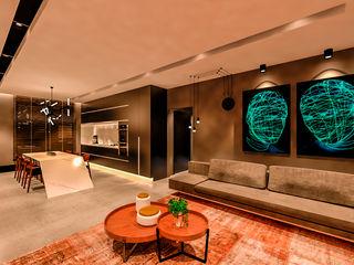 Studio Diego Duracenski Interiores Modern living room MDF Black
