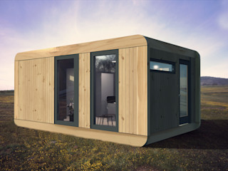CUBE Homes Modern offices & stores Wood