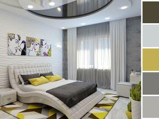Цунёв_Дизайн. Студия интерьерных решений. Dormitorios modernos Blanco