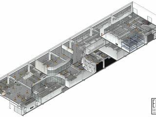 EXPERIENCE CENTER DE SMURFIT KAPPA. CA. CARTONES DE VENEZUELA C.A. EISEN Arquitectura + Construccion Oficinas de estilo escandinavo Vidrio Blanco