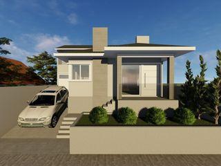 Reforma de edificação residencial Cláudia Legonde Casas familiares Bege
