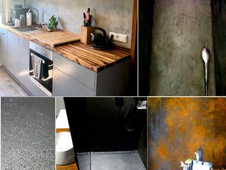 luanna design Eclectische muren & vloeren Beton Grijs
