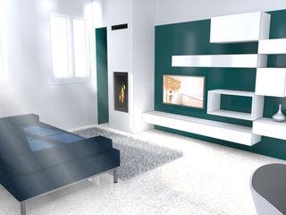 Architetti Baggio Moderne Wohnzimmer