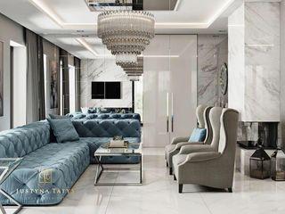 GLAM PROJECT Sp. z o.o. Moderne Wohnzimmer Beige