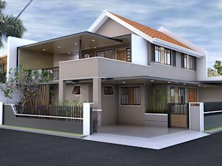 Renovation and Expansion - Exterior homify Terrace house