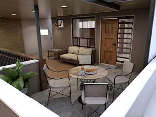 Renovation and Expansion - Terrace and Lounge area homify Modern balcony, veranda & terrace