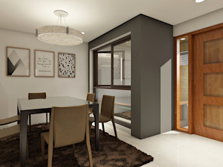 Renovation and Expansion - Dining space homify Modern dining room