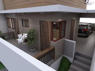 Brand new 2 storey house - Terrace backview homify Modern balcony, veranda & terrace