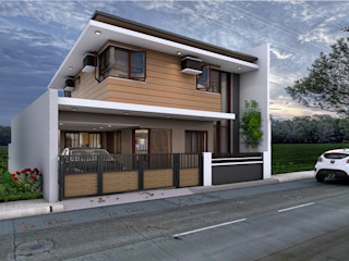 Brand new 2 storey house - Exterior and surrounding homify Multi-Family house