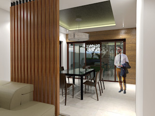 Major renovation and expansion project in Talisay City - Dining area homify Modern dining room
