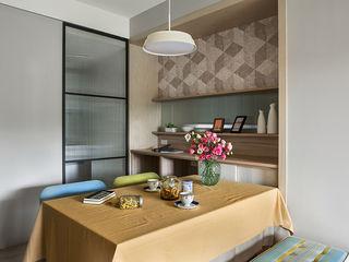 達譽設計 Scandinavian style dining room Glass