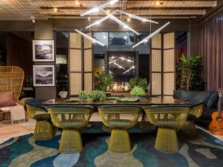 Espaço do Traço arquitetura Rustic style dining room